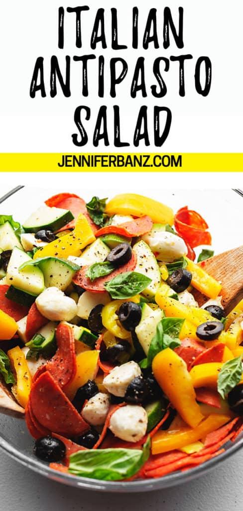 antipasto salad pinterest pin