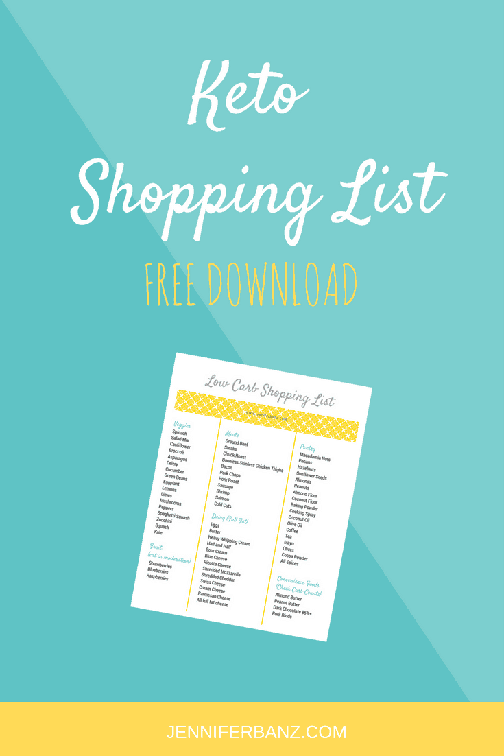 photo relating to Free Printable Keto Food List named Keto Purchasing Checklist - No cost Obtain! Lower Carb with Jennifer