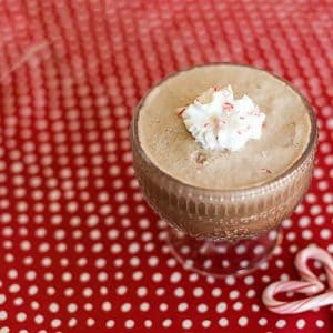 Low Carb frozen peppermint mocha