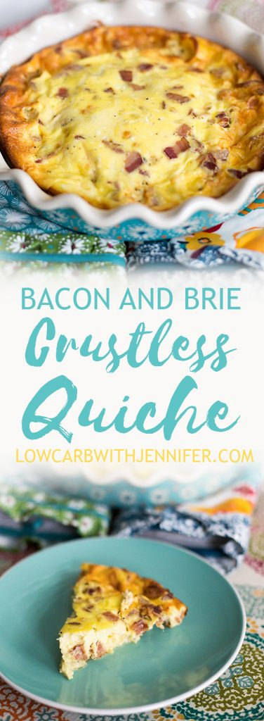This low carb crustless quiche with bacon and brie is a great low carb take on a brunch classic. You could call it crustless quiche or you could call it a frittata. I just call it yummy.