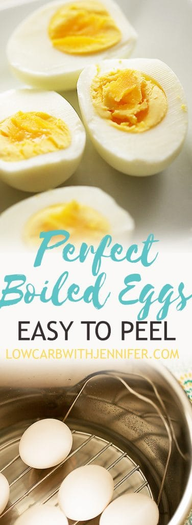 Perfect boiled eggs are a easy with the instant pot pressure cooker.  They will be easy to peel too!  #instantpot #eggrecipes #easterrecipes #deviledeggs