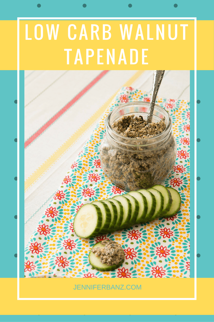 This low carb walnut tapenade is the perfect addition to any picnic