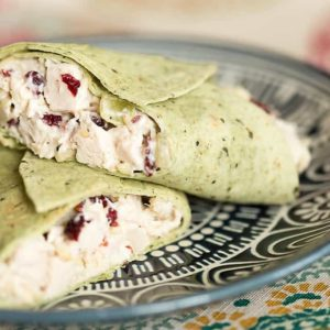 low carb cranberry almond chicken salad