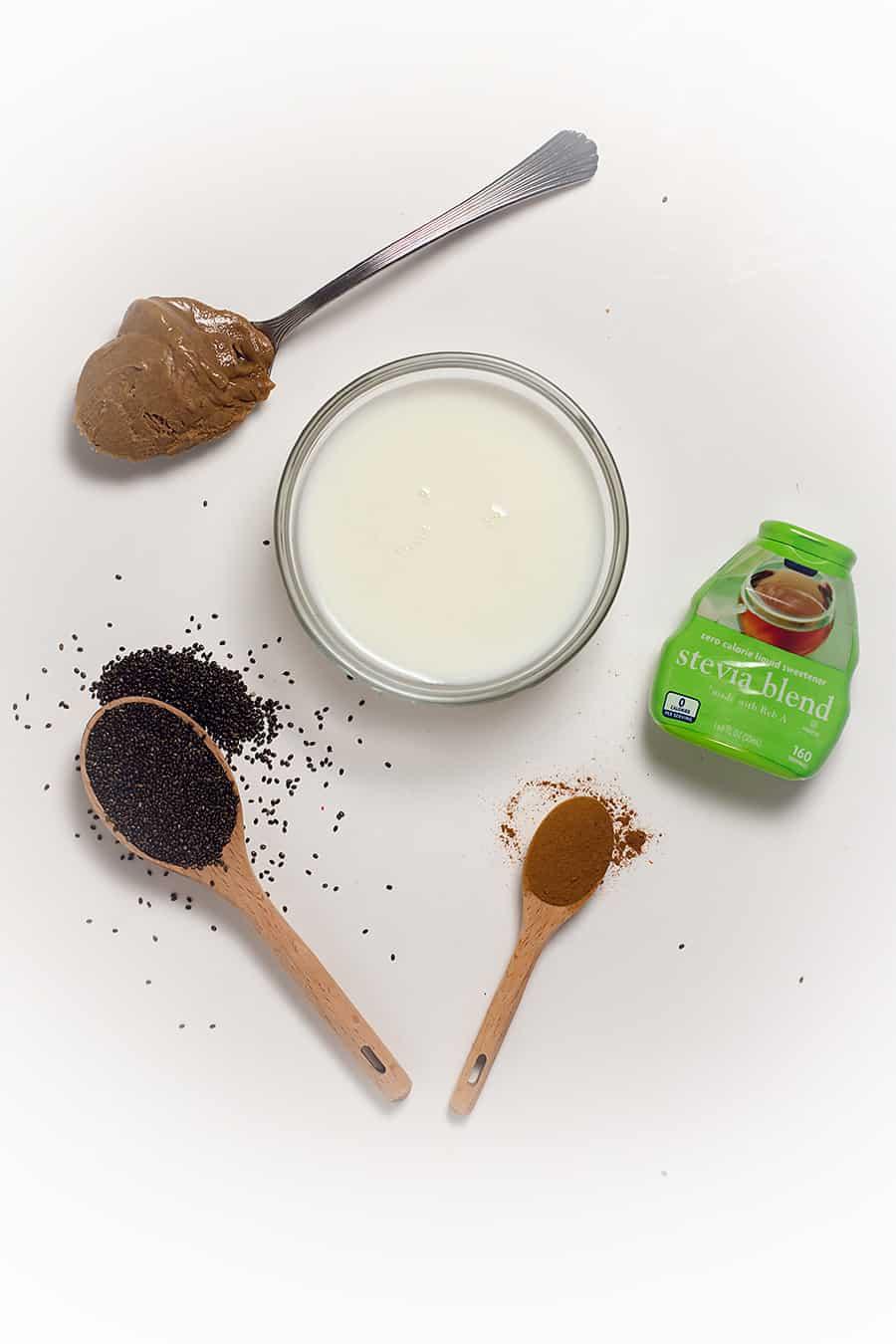 ingredients to make keto chia pudding