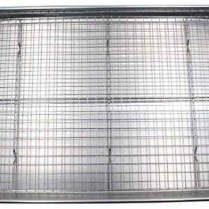 baking pan with a rack