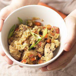Chicken cauliflower fried rice casserole
