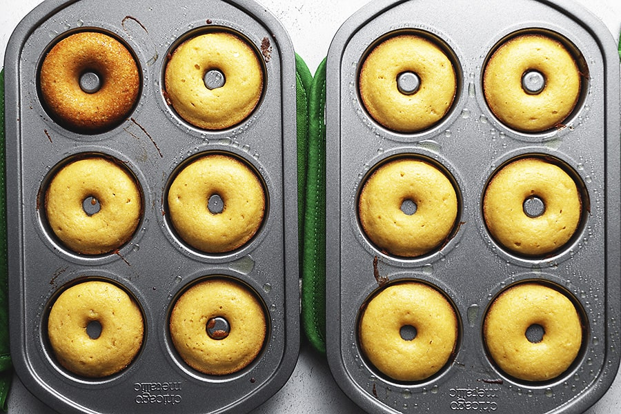 donuts in a donut pan
