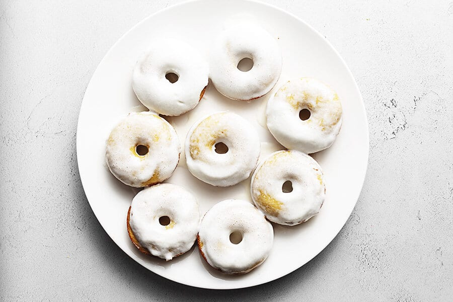 keto donuts on a white plate