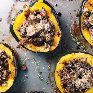 These stuffed acorn squash with sausage and mushrooms will have you dreaming of fall. Low carb and gluten free! I also provide a quick tip on how to easily cut your squash!