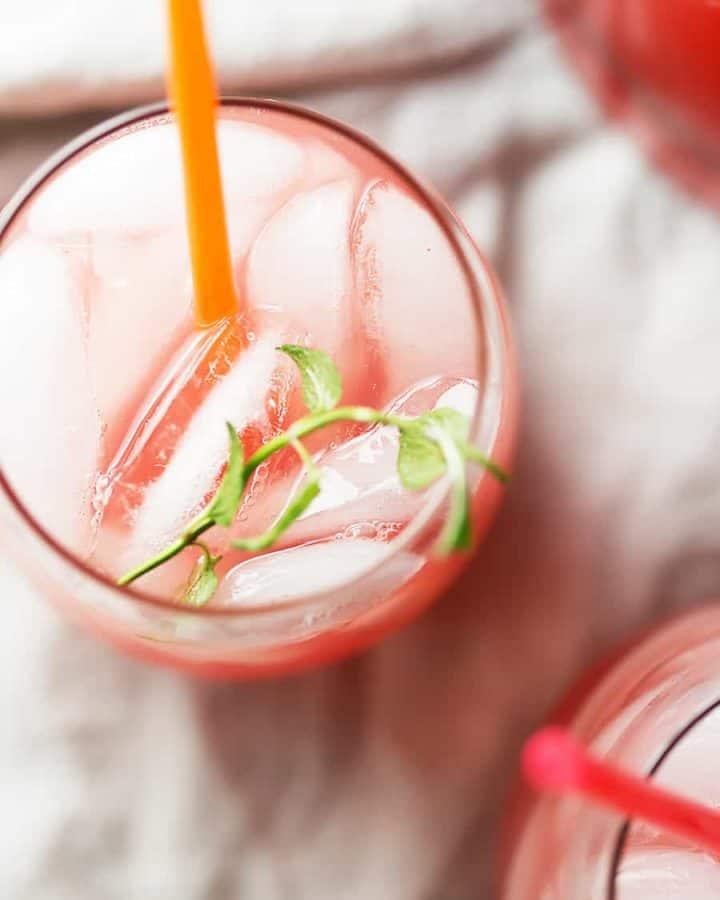 Celebrate watermelon season with this low carb watermelon drink! It is so refreshing and tastes like you just bit into a fresh piece of watermelon. Booze it up with vodka and take it to your next girlfriend get together!