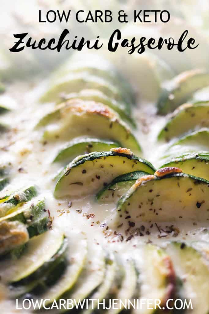 Give up the potatoes and give this zucchini casserole a try! A thick and cheesy sauce can make any green vegetable taste 100 times better! #ketorecipes #zucchini #lowcarb #casserole