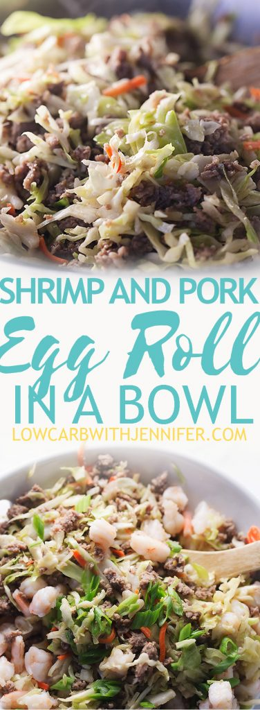 Egg Roll In A Bowl With Shrimp And Pork Low Carb With