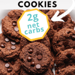 keto and gluten free double chocolate cookies pinterest pin