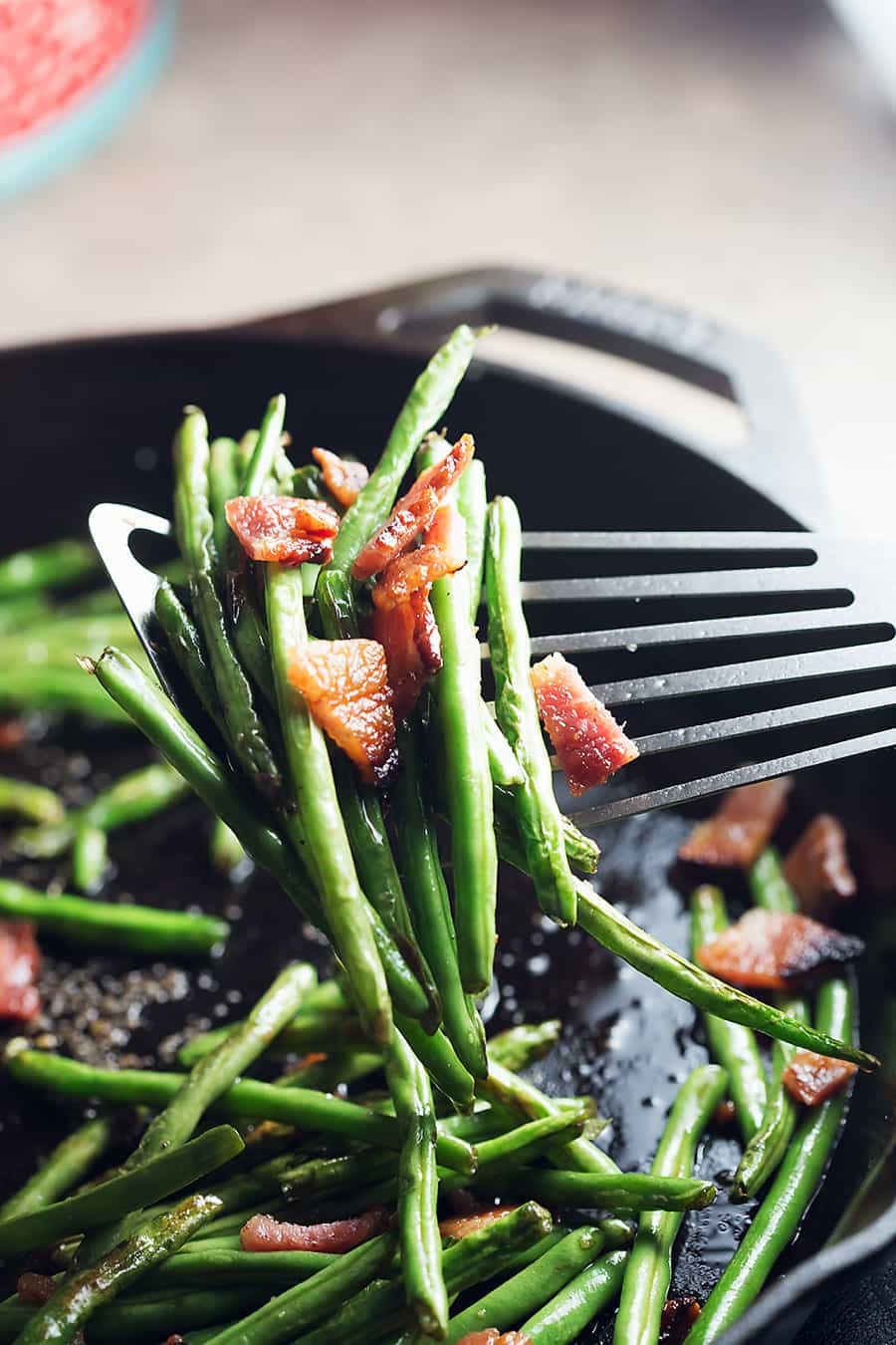 Blistered Green Beans With Crispy Bacon Low Carb With