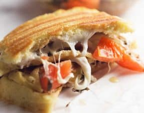 low carb caprese panini