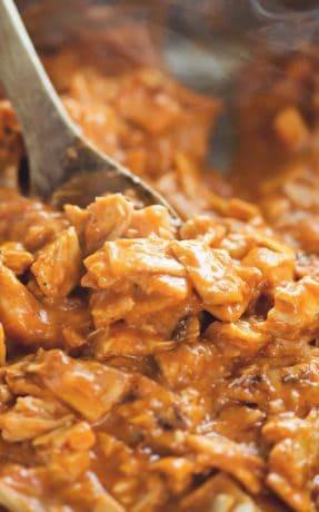 low carb chicken enchiladas skillet
