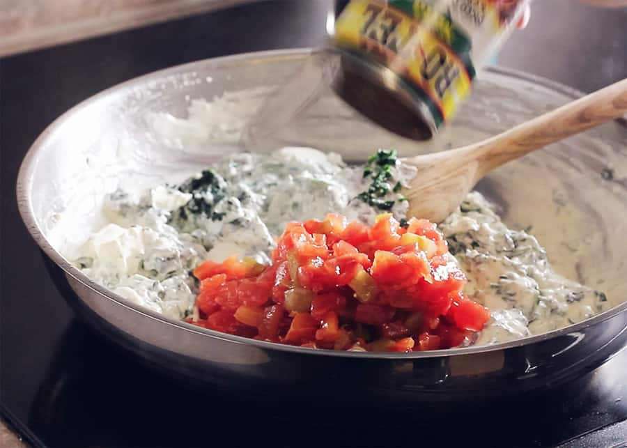 Creamed spinach with cream cheese