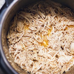 shredded chicken in an instant pot