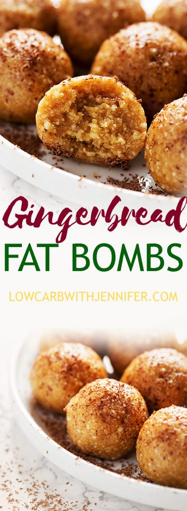 This ketogenic fat bomb recipe has all of the flavors of a gingerbread cookie with none of the carbs. a super easy keto and low carb snack. #ketorecipes #ketofoods #lowcarbdiet #lowcarbrecipe #fatbomb