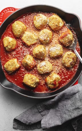 chicken parmesan meatballs feature image