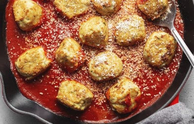 chicken parmesan meatballs feature image