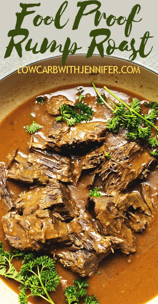 This Fail Proof Rump Roast recipe will give you tender rump roast every time. This recipe gives instructions for using the Crock Pot or an Instant Pot Pressure Cooker. #instantpotrecipes #crockpotrecipes #slowcookerrecipes