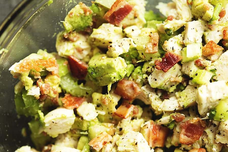 Keto Chicken Salad With Avocado And Bacon Low Carb With Jennifer