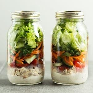 2 mason jar salads