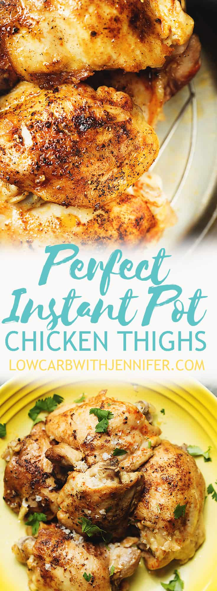 instant pot chicken thighs and keto chicken thighs pinterest pin