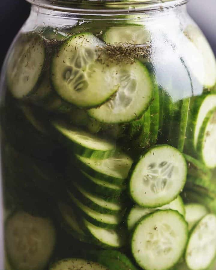 fast food pickles in a jar