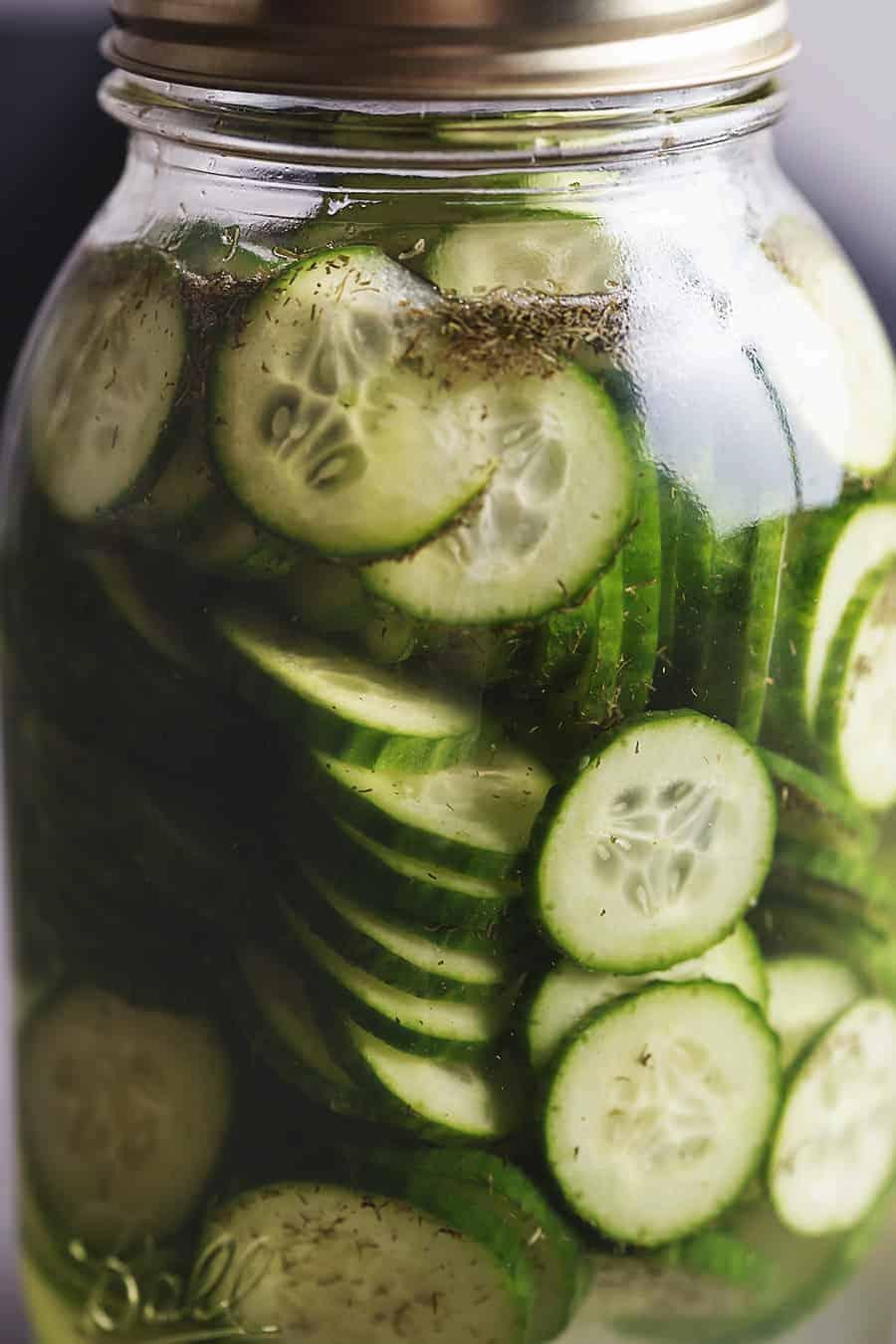 fast food pickles in a jar