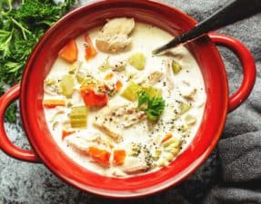 Instant Pot Creamy Chicken Soup