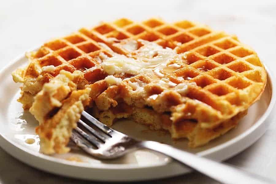 protein powder waffles