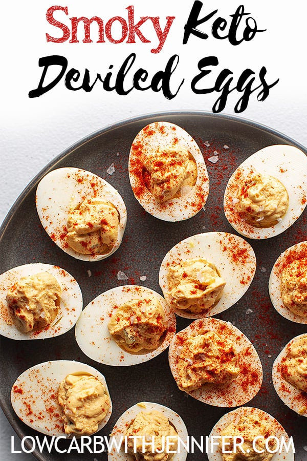 These easy low carb and keto deviled eggs are my families recipe that we have been making for years. We use dill pickle relish for extra zing and then smoked paprika for that smoky flavor.