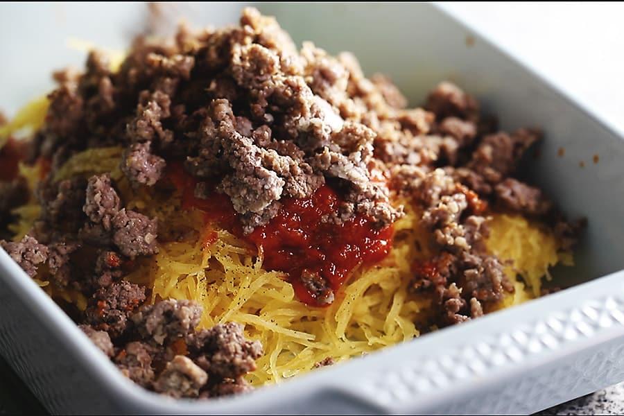baked spaghetti squash casserole