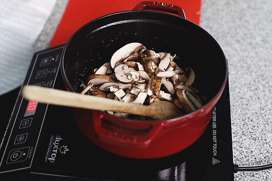 stroganoff with mushrooms