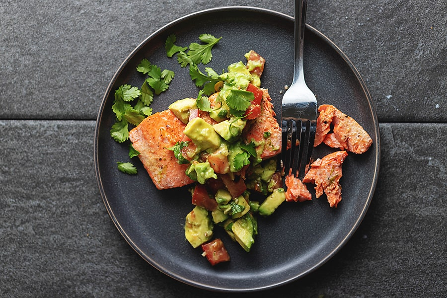salmon and avocado salsa