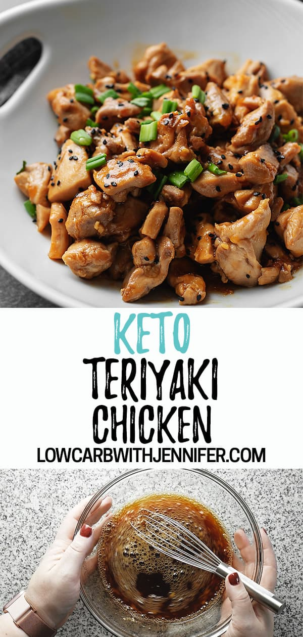 Another easy low carb dinner that can be made in under 30 minutes! This keto teriyaki chicken is full of flavor and perfect served with cauliflower fried rice.
