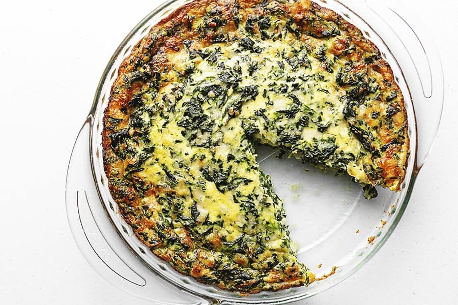 Crustless Spinach Pie Low Carb With Jennifer