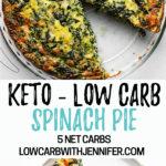 spinach pie pinterest pin