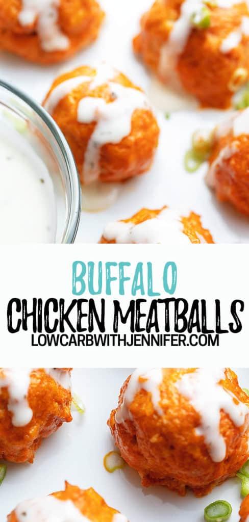 chicken meatball pinterest pin