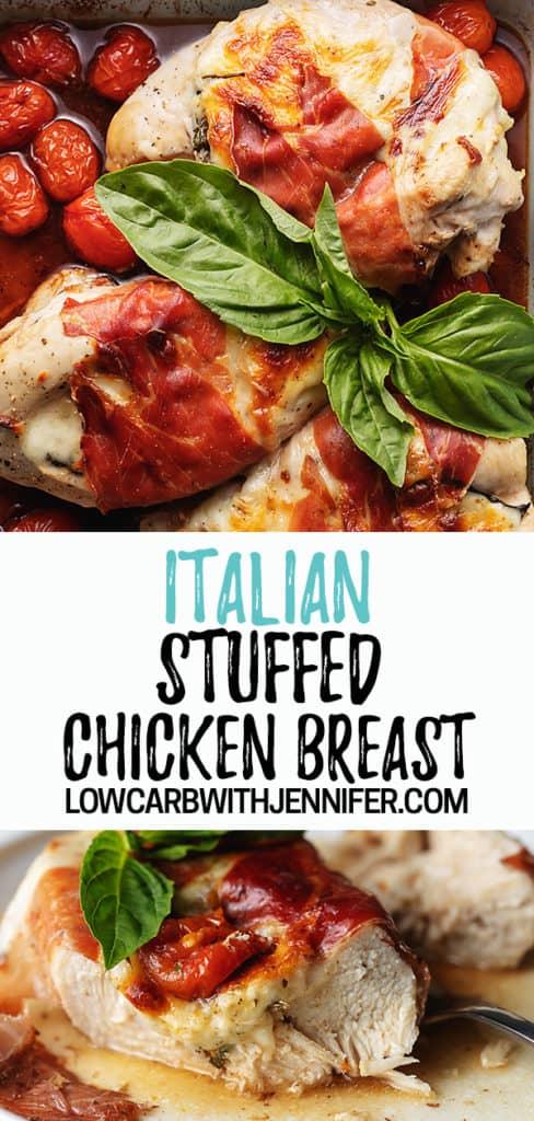stuffed chicken breast Pinterest pin