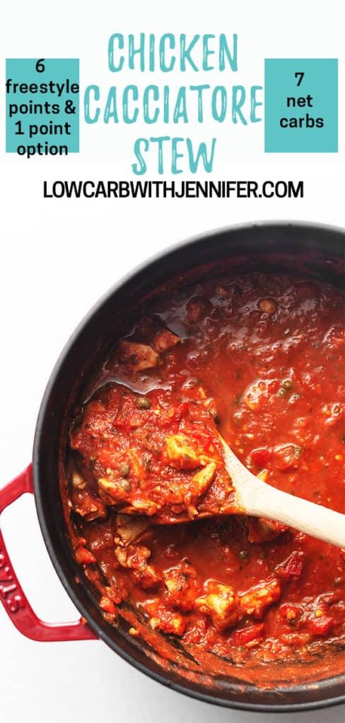 chicken cacciatore stew pinterest pin