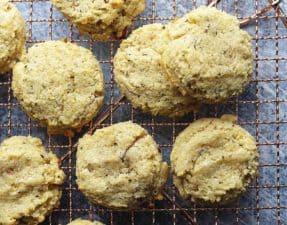 keto breakfast cookies on a wire rack