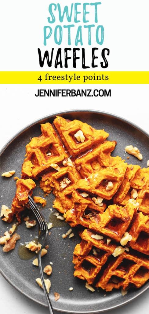 sweet potato waffle pinterest pin