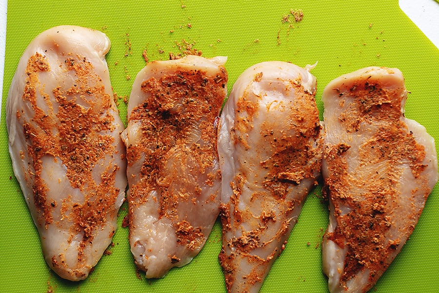 chicken breast with seasoning