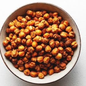 crispy chickpeas in a bowl