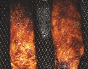 cooked Salmon in the air fryer