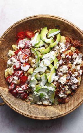 roasted cauliflower Cobb salad