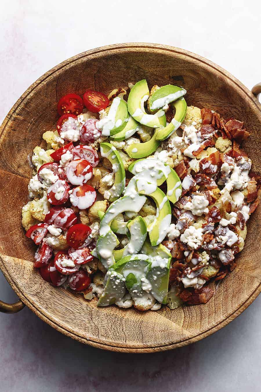 roasted cauliflower Cobb salad
